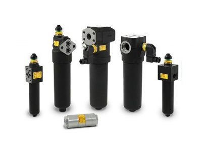 In line medium and high pressure filters